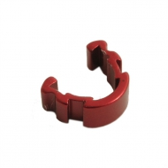 Aluminium Brake Hose Clips - Red